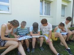 Deváťáci učí prvňáky 23.6.2016